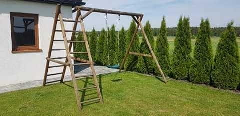 Huśtawka ogrodowa drewniana dla dzieci
