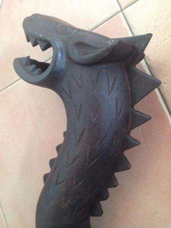 cabeça de dragão/ferro fundido