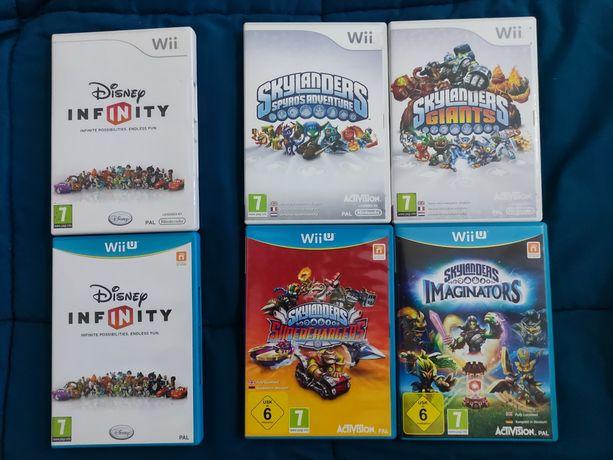 Jogos wii - wii u / bases / figuras - Disney infinity e skylanders