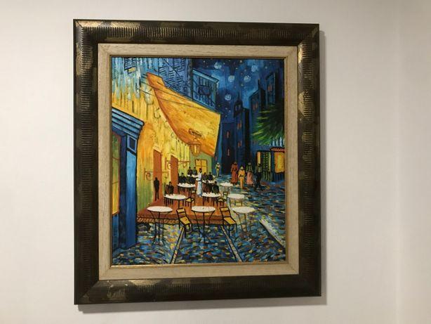 """Quadro Réplica Van Gogh """"O Terraço do Café à Noite"""""""
