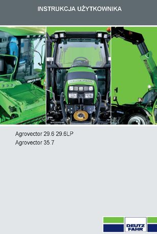 Instrukcja Agrovector Deutz 33.7, 37.6 i 37.7 INNE