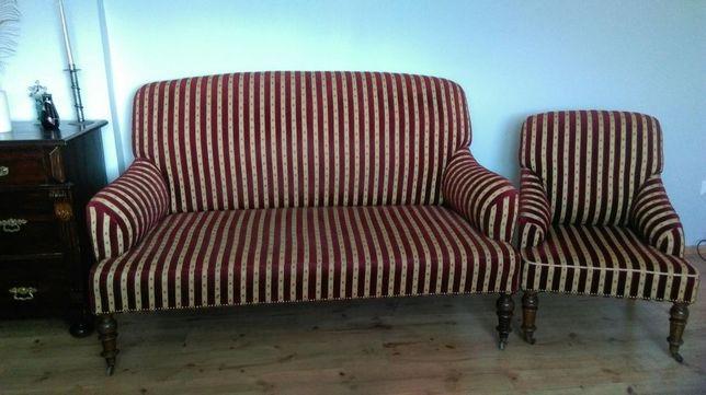 Sofa na kółkach po renowacji
