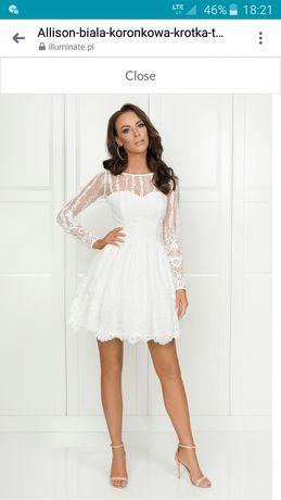Piękna sukienka ślubną, bądź inną okazję. Polecam