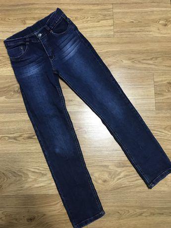 10-11 лет джинсы синие школьные на мальчика 10-11 лет
