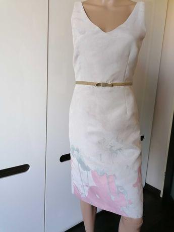 MONNARI Nowa sukienka klasyczna kobieca S/36 wzór print TANIO!!!