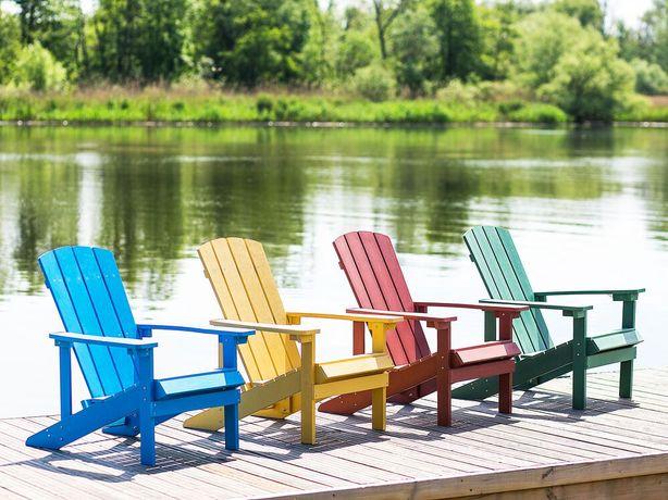 Cadeira de jardim amarela ADIRONDACK - Beliani