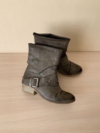 Сапожки ботинки серые