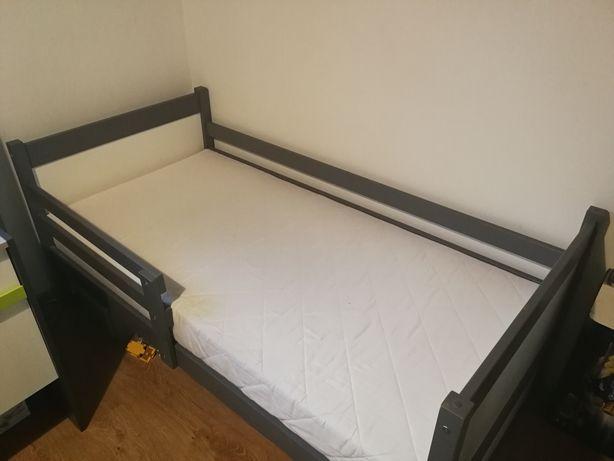 Łóżko dziecięce 160x80 antracyt + biel