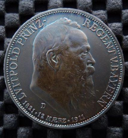 Серебро монета Германская Империя Бавария 3 марки 1911 года
