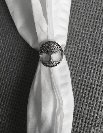 pierścionek Drzewo Życia srebro 925 rodowane oksydowane polerowane boh