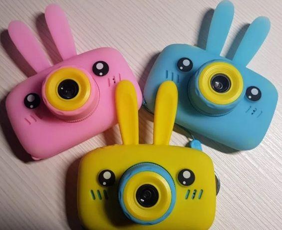 Детский цифровой фотоаппарат. Фотокамера детская Зайчик, Мишка.