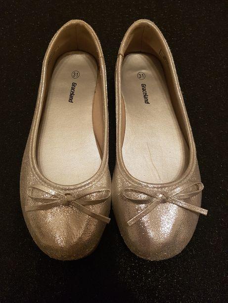Srebrne balerinki Graceland rozm.31