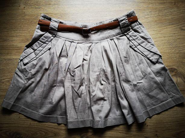 Spódnica beżowa pasek XL