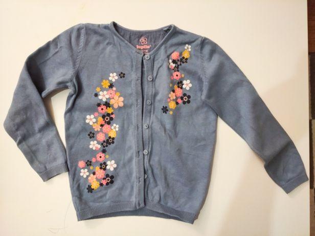 Sweterek rozpinany roz.110/116
