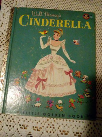 """Cinderella"" i ""Pinocchio""- a little golden book (Disney 1950 r)"