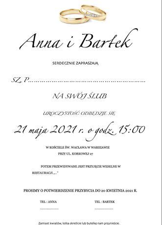 Zaproszenia, ulotki, plakaty