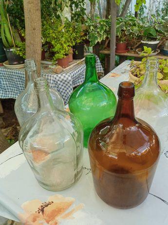 Garrafões vidro antigos