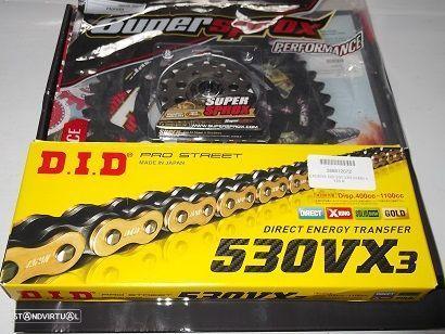 Kit Transmissao Corrente DID VX3 X-Ring Honda CBF 1000 F de 2006 a 2010