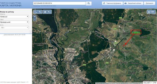 Земельный участок , пай 2 га .Киевская обл Броварской рн. с Красиловка