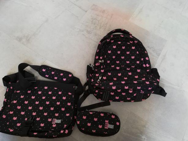Zestaw ST. RIGHT plecak torba piórnik