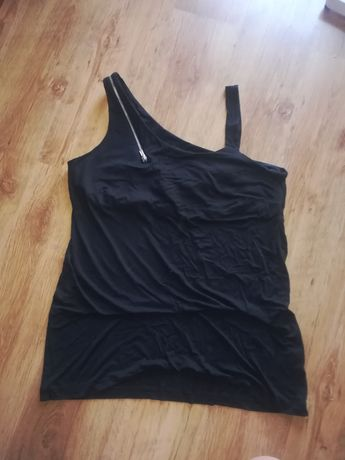 Sukienka mini, tunika r. 50 czarna zip