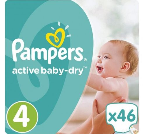 Pampers active baby dry MAXI 4 (46 ШТ)