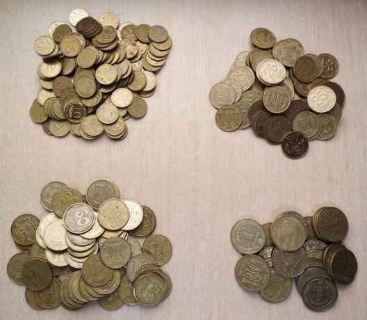 Монеты Украины (10, 25, 50 коп, 1 грн.)