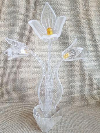 Сувенир из СССР Тюльпаны, оргстекло
