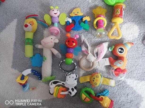 Zabawki grzechotki dla niemowlaka 13 sztuk zadbane