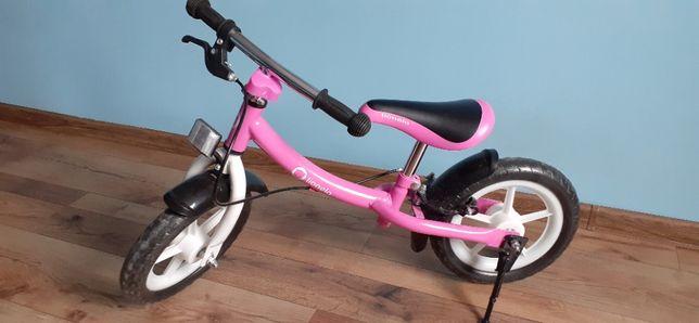 Śliczny różowy rower Lionelo + różowy kask