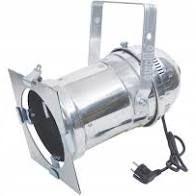 Reflektor sceniczny PAR 56 srebrny długi - styl loft światło żarowe