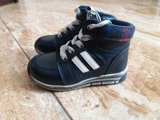 Ocieplane buty chłopięce 22