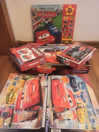 Zygzak McQueen puzzle książka zestaw,  gra memory, tanio