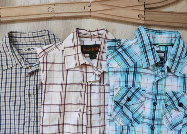 zestaw ubrań koszula w kratkę w kratę timberland name it r.110/116