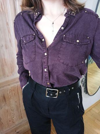 Fioletowa koszula M/L