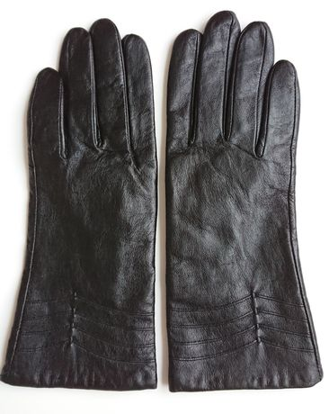 Skórzane rękawiczki S