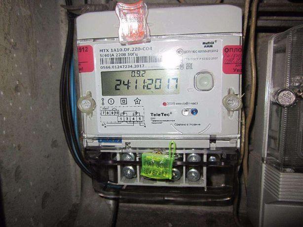 Установка электросчетчиков, реле напряжения, автоматов питания