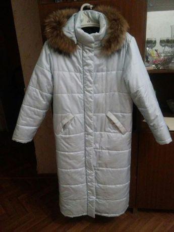 Пальто зимнее на синтепоне из плащевки