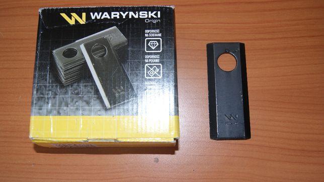 Nóż nożyk kosiarka rotacyjna polska 96x40x4 Fi=19 Waryński 4MM gruby