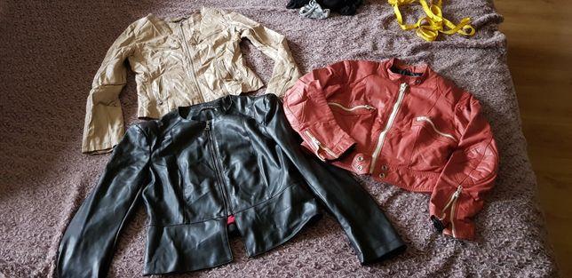Skóra skórzane naturalna kurtka ramoneska motocyklowa zara