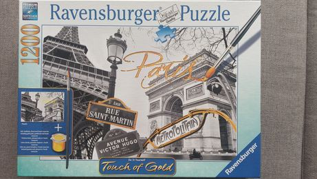 Puzzle 1200 Touch of Gold Paryż Puzzle do malowania
