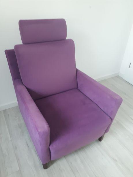 Fotel uszak fiolet