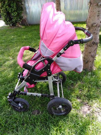 Wózek 2w1 rożowy