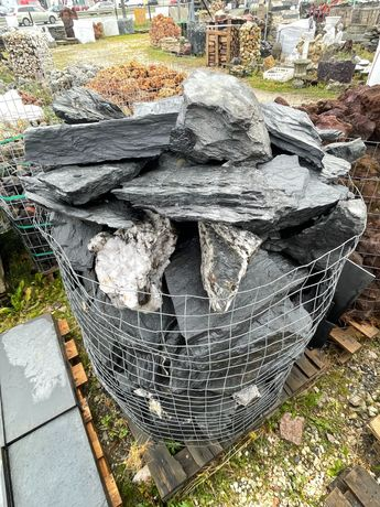 Kamień Akwarium Terrarium Czarna Skała Łupek Filitowy Grotki Pruszków