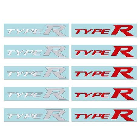 TypeR naklejka na auto, samochód. Logo, znaczek, emblemat, nikiel.