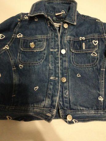 Katana jeansowa dziewczynka 86