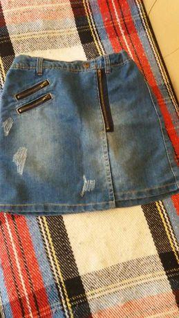 Super dżinsowa spódnica tap o leil