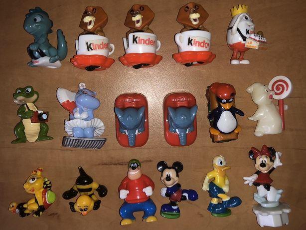 Kinder niespodzianka figurki Kinderino urodziny kartki zamienię sprzed