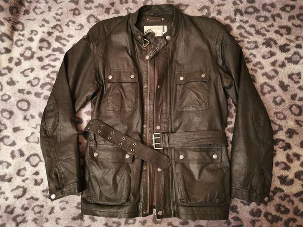 Мужская кожаная куртка TCM в стиле Belstaff или Barbour