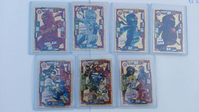 Lego Ninjago cartas trading cards edições limitadas série 1